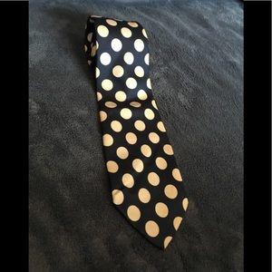Christian Dior - Blue/White Polka Dot Silk Tie